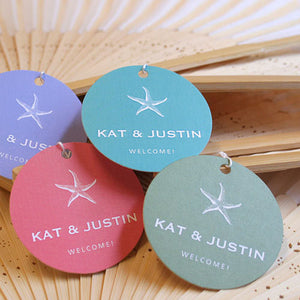 "Personalized Round 2"" Favor Labels & Tags"