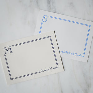 Personalized Double Border Note Cards