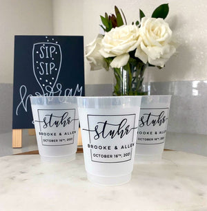 Custom Square Monogram Cups