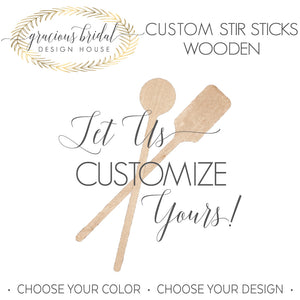 Custom Wooden Stir Sticks