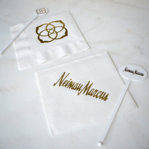 Corporate White Linen-Like Napkins