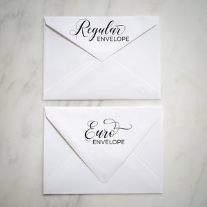 Oversize Initials Letterpress & Foil Wedding Invitations