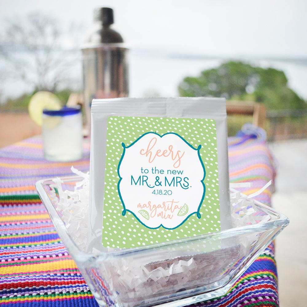 Custom Margarita Mix Wedding Favors - Gracious Bridal Design House