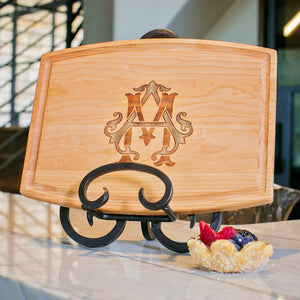 Monogram Wooden Cheese Board