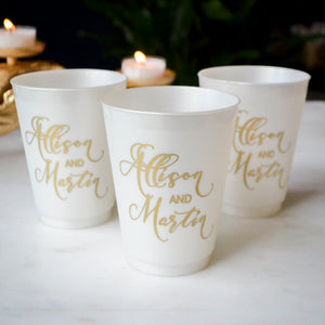 Metallic Shatterproof Wedding Cups