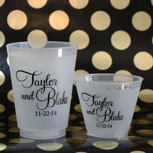 Custom Wedding Frosted Plastic Cups
