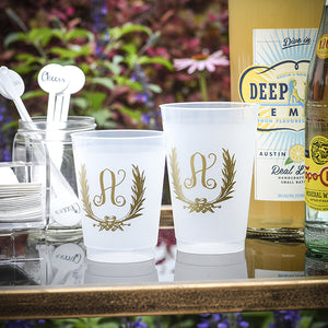 Personalized Initial Shatterproof Party Cups