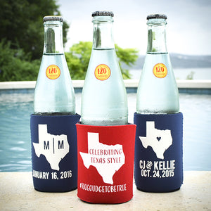 Personalized Texas State Can Cooler