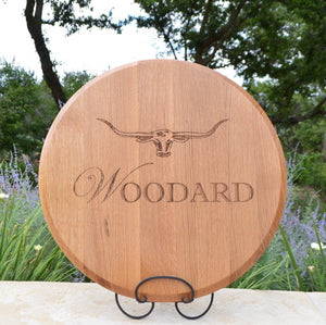 Personalized Oak Lazy Susan
