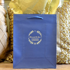 Wreath Border Custom Welcome Bags