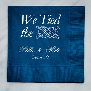 Tied The Knot Custom Napkins - Set of 100