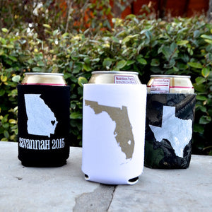 Custom State Pride Can Coolers