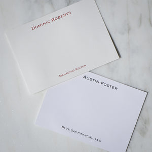Personalized Cards with Name and Note