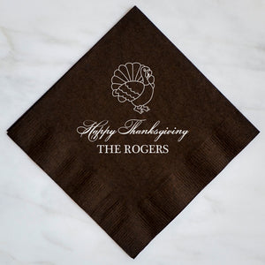 Happy Thanksgiving Napkins - Set of 100