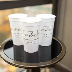 Custom Wedding Reception Stadium Cups