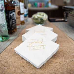 Modern Monogram Wedding Reception Napkins