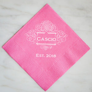 Personalized Party Napkins - Set of 100