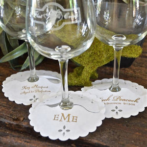 Personalized Wine Stem Wrap Coasters