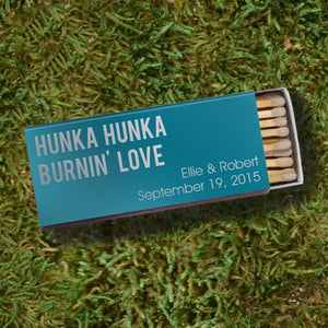"""Burnin' Love"" Large Personalized Matches"