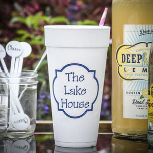 Personalized Lake House Styrofoam Cups