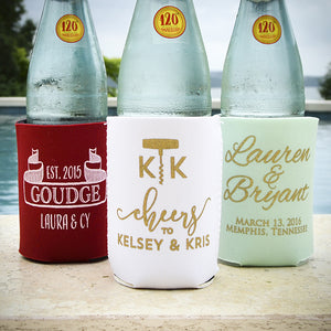 Custom Printed Wedding Can and Bottle Cooler