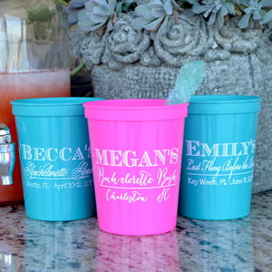 Custom Bachelorette Stadium Plastic Cups
