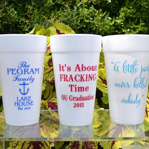 Custom Designed Foam Party Cups