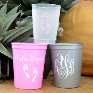 Personalized Birthday Plastic Stadium Cups