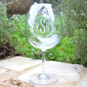 Personalized Tritan Red Wine Glasses- Set of 6