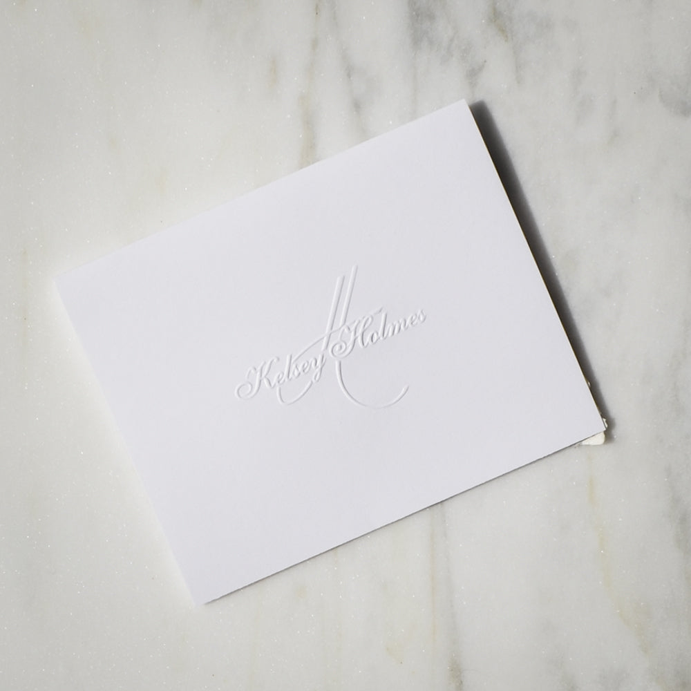 graphic regarding Embossed Stationery known as Clic Customized Embossed Stationery Preset