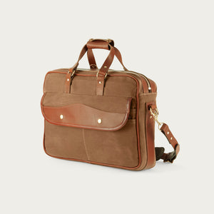 White Wing Leather & Canvas Briefcase
