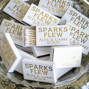 """Sparks Flew"" Custom Wedding Sparkler Matches"