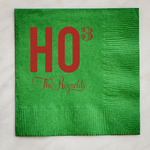 Custom Ho Ho Ho Holiday Napkins - Set of 100