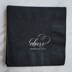Personalized Cheers Napkins - Set of 100