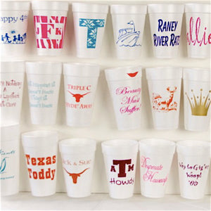 Custom Styrofoam Party Cups