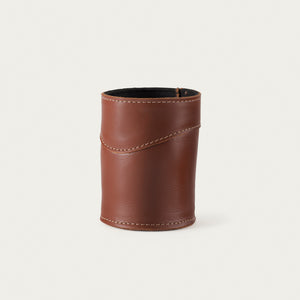 White Wing Custom Leather Can Cooler