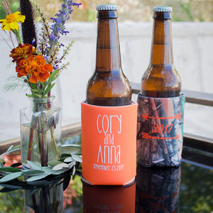 Personalized Can & Bottle Cooler Favors