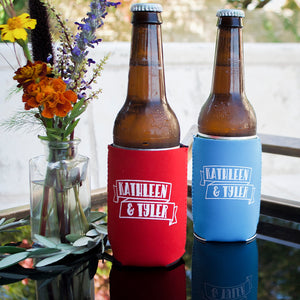Personalized Couples BBQ Can Coolers