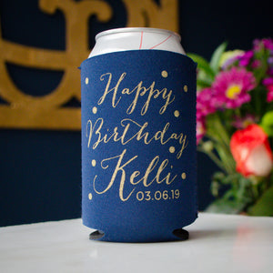 Happy Birthday Can Coolers Party Favors