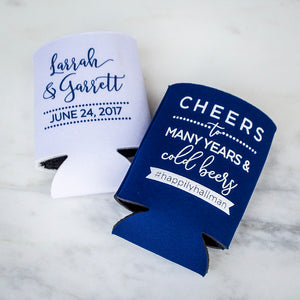 Custom Cheers to Many Years Can Coolers