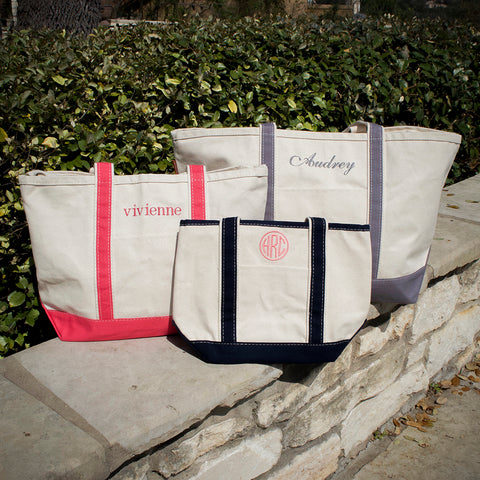 personalized canvas bags, totes, & travel