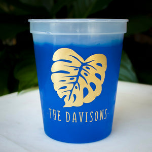 Monstera Leaf Stadium Mood Cups