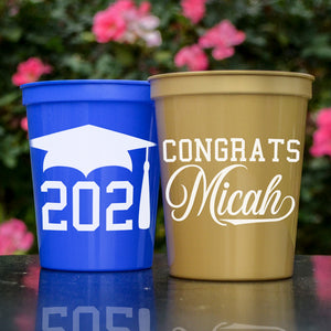 Personalized Graduation Stadium Cups