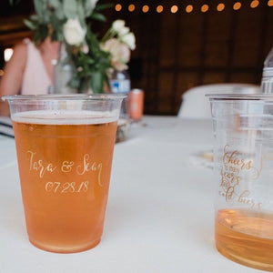 Custom Soft Plastic Wedding Cups