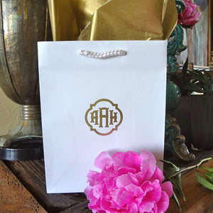Monogrammed Hotel Wedding Welcome Bags