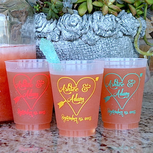 Custom Arrow Heart Frost Flex Cups