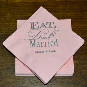 Eat Drink & Be Married Wedding Napkins-100