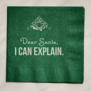 Personalized Christmas Party Napkins - Set of 100