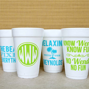 Personalized Bachelorette Party Styrofoam Cups