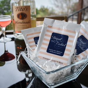 Custom Cosmopolitan Mix Wedding Favors